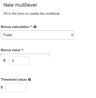 setting up a fixed multilevel on your referral program