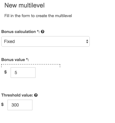 Adding threshold to your multilevel incentive model
